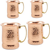 Old Dutch 17Oz Hammered Solid Copper Sui Generis Moscow Mule Mugs Set of 4
