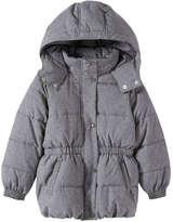 Joe Fresh Toddler Girls' Quilted Puffer Jacket, Grey (Size 2)