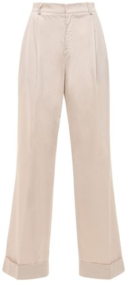 ÀCHEVAL PAMPA Gardel High Waist Cotton Satin Pants