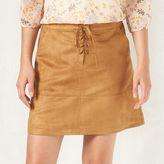Lauren Conrad Women's Faux-Suede Skirt
