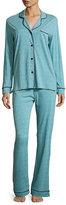 Cosabella Bella Stripe-Print Long-Sleeve Pajama Set, Blue
