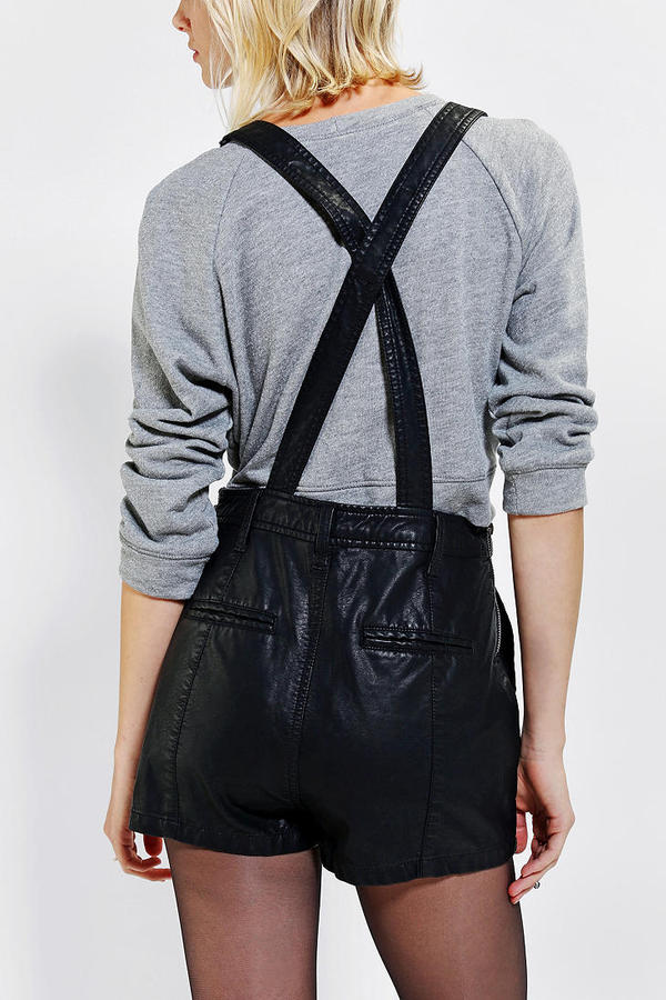 BDG Vegan Leather Overall Short