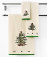 "Spode Bath Towels, Christmas Tree 11"" x 18"" Fingertip Towel"