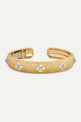 Buccellati Macri Giglio 18-karat Yellow And White Gold Diamond Cuff