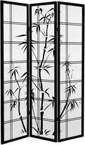 Oriental Furniture Canvas Bamboo Tree 3-Panel Room Divider, 6-Feet Tall
