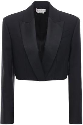 Alexander McQueen Light Wool Blend Crop Jacket