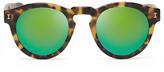 Illesteva Leonard Tortoise / Green Mirror