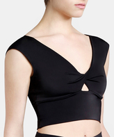 Capezio Black Twist-Front Keyhole Carlotta Crop Top - Women