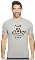 Life is Good Fishing Buddy Crusher Tee Men's T Shirt