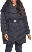 Tahari Plus Size Women's Matilda Shawl Collar Quilted Coat