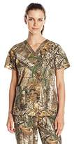 Carhartt Women's Realtree Print Scrub Top