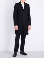 Alexander McQueen Velvet-trimmed wool and silk-blend coat