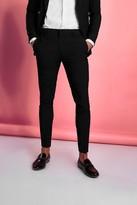 boohoo Mens Black Super Skinny Trouser, Black