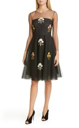 Sachin + Babi Brae Floral Applique Cocktail Dress