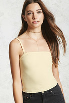 Forever 21 Ribbed Knit Ruffle Cami