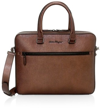 Salvatore Ferragamo Revival Meta Leather Briefcase