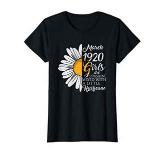 Womens March Girl 1920 TShirt 100 Years Old 100th Birthday Gift T-Shirt