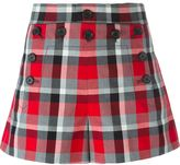 Marc Jacobs 'Sailor' check shorts - women - Silk/Cotton - 2