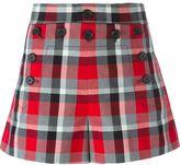 Marc Jacobs 'Sailor' check shorts - women - Silk/Cotton - 4