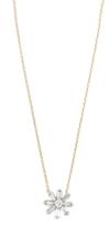 Adina Diamond Baguette Flower Necklace
