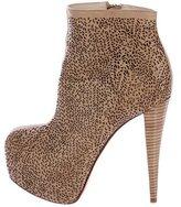 Alice + Olivia Laser Cut Platform Ankle Boots