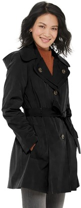 London Fog Women's TOWER by Water-Resistant Trench Coat