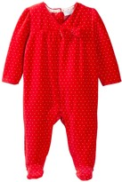 Sterling Baby Polkadot Velour Footie (Baby Girls)