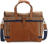 Original Penguin Men's Canvas/Leather Weekender Bag, Rubber