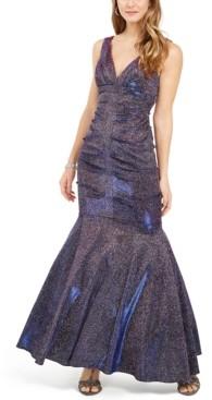 Xscape Evenings Metallic Glitter Mermaid Gown