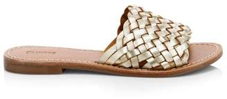 Soludos Woven Leather Slide Sandals