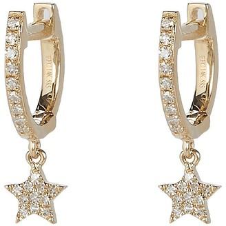 Ef Collection Mini Huggie Diamond Star Hoop Earrings