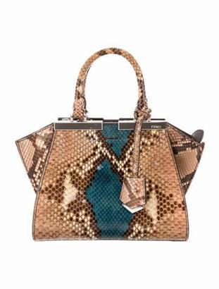 Fendi Python Mini 3Jours Bag Brown