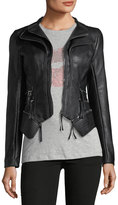 Romeo & Juliet Couture Double-Zip Faux-Leather Moto Jacket