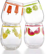 Martha Stewart Collection 4-Pc. Stemless Wine Glass Set