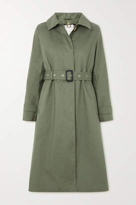 MACKINTOSH Roslin Bonded Cotton Trench Coat - Army green