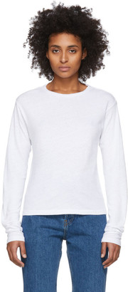 RE/DONE White Heritage Long Sleeve T-Shirt