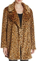 Scotch & Soda Leopard Print Faux Fur Coat