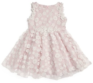 Lesy Floral and Pearl Applique Dress