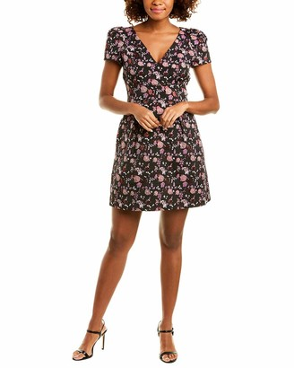 Adrianna Papell Women's Ditsy Floral Jacquard A-Line