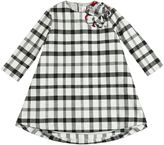 Il Gufo Checked Flannel Dress With Flower