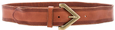 Linea Pelle Triangle Buckle Belt in Cognac. - size L (also in XS)