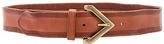 Linea Pelle Triangle Buckle Belt in Cognac