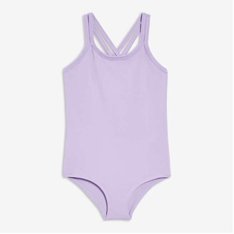 Joe Fresh Toddler Girls' Strappy Active Bodysuit, Lavender (Size 3)