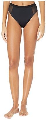 Stella McCartney Sporty Mesh High-Waist Bikini (Black) Women's Swimwear