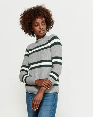 PINK ROSE Mossy Shadow Striped Sweater