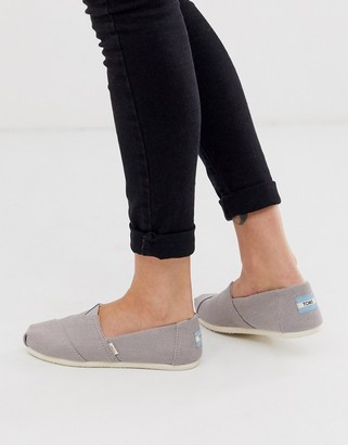 Toms Alpargata Earthwise vegan flat shoes in grey