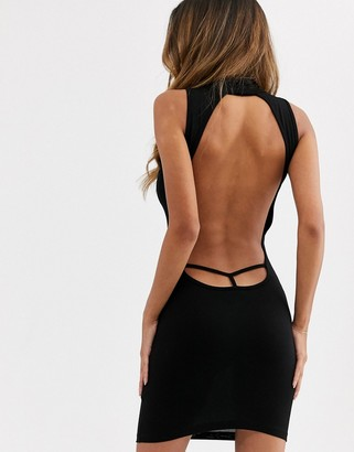 ASOS DESIGN going out bodycon mini dress in black