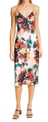 CAMI NYC The Raven Autumn Floral Silk Camisole Dress