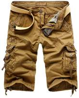 WSLCN Mens Summer Shorts Combat Cargo Shorts Cotton (Without Belt) 31