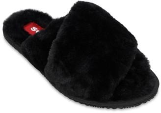 Sorel Go Mail Run Faux Fur Slide Sandals